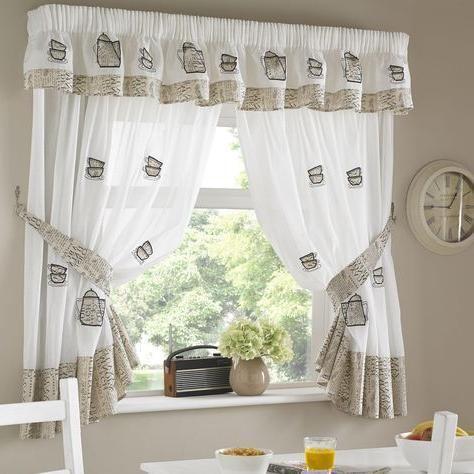 Des Pots De Café Rideau De La Cuisine Worldefashion Com Hem Kitchen Curtain Designs Kitchen Curtains Curtain Designs