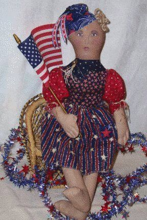 America Patriotic Soft Doll sewing epattern. http://www.patternmart.com/pattern/16151/America+Patriotic+Soft+Doll