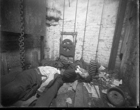 Two Bodies in an Elevator Shaf is listed (or ranked) 12 on the list 22 Haunting and Graphic Crime Scene Photos from 1920s New York City