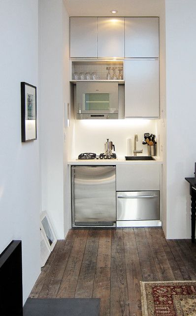 Super Tiny Yet Fully Functional Kitchen That Occupy Only One Small Niche Kitchen Design Small Tiny Kitchen Kitchen Space