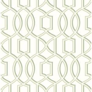 Roommates 28 18 Sq Ft Striped Hexagon White Gold Peel And Stick Wallpaper Rmk10704wp The Home Depot Trellis Wallpaper Green Wallpaper Brewster Wallcovering