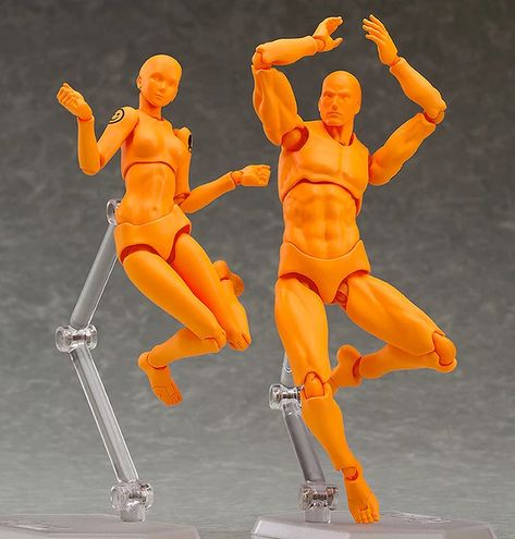 Male//Female PVC Action Figma Archetype Figure Model Toy For Drawing Sketch.