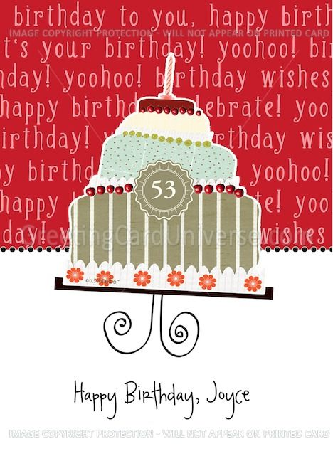 Happy Birthday Joyce Customizable Birthday Card Cake Card Ad Affiliate Joyce Birthday Happy Birthday Cards Unique Birthday Wishes Happy Birthday