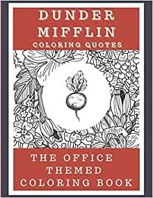 Dunder Mifflin Quotes Coloring Book Color Quotes Coloring Books Office Quotes