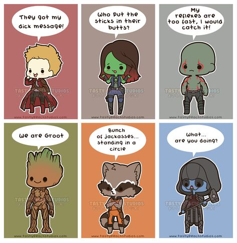 Chibi Guardians of the Galaxy by TastyPeachStudios on DeviantArt