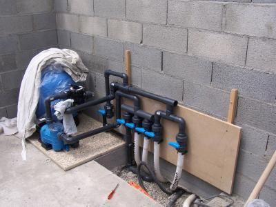 Le Montage De La Filtration Installation Provisoire Pas Le Temps