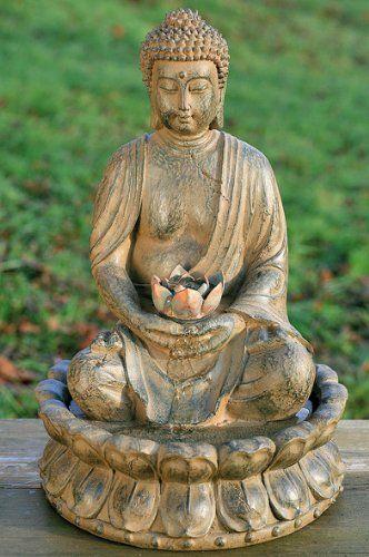 Fontaine Buddha Sculpture 52 Cm Avec L Eau Lumiere Feng Shui Figur