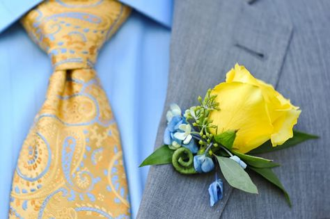 A yellow rose boutonniere. Karenscape Photography.