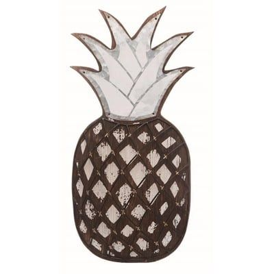 Pineapple Wall Hanging Size 9 X 1 X 18 75 Material Metal Wood Pineapple Wall Decor Wall Hanging Transpac