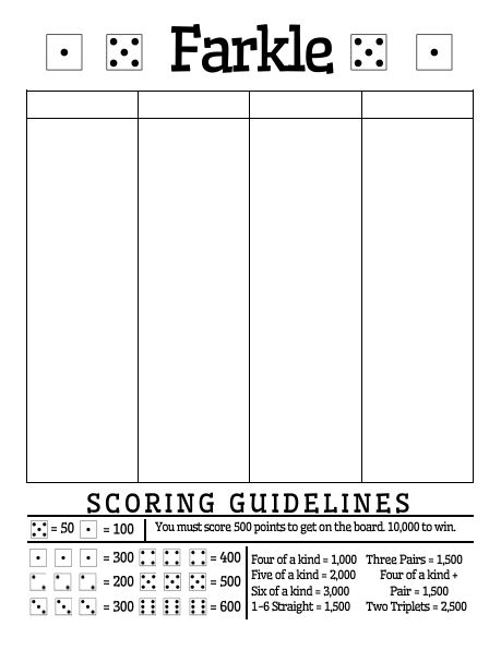 311 best Beautiful board games images on Pinterest Role playing - farkle score sheet template