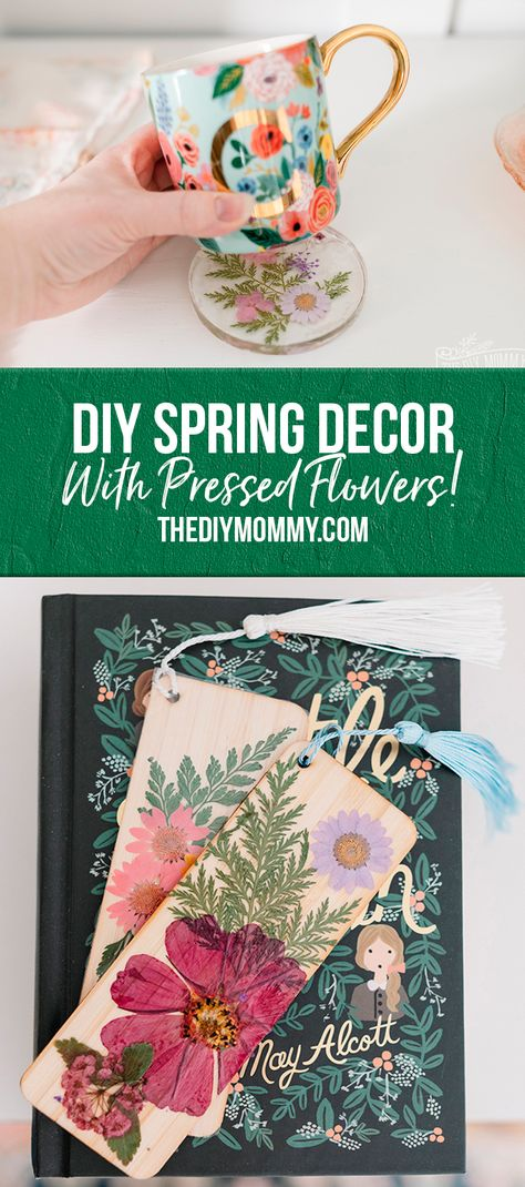 Pressed Flower DIY Ideas to compliment your Spring Decor!