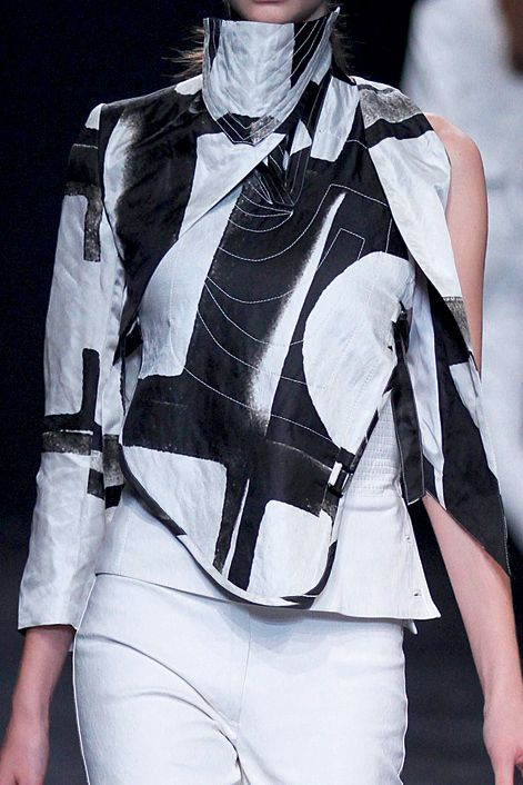 Fabric print, designed for Ann Demeulemeester, by Victor Robyn.
