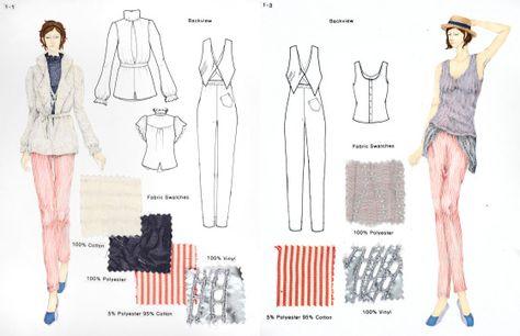 Fashion design portfolio examples for college.