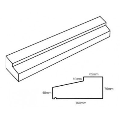 Type1 Stone Slip Window Sill 70 48mm X 160mm Window Sill Concrete Color