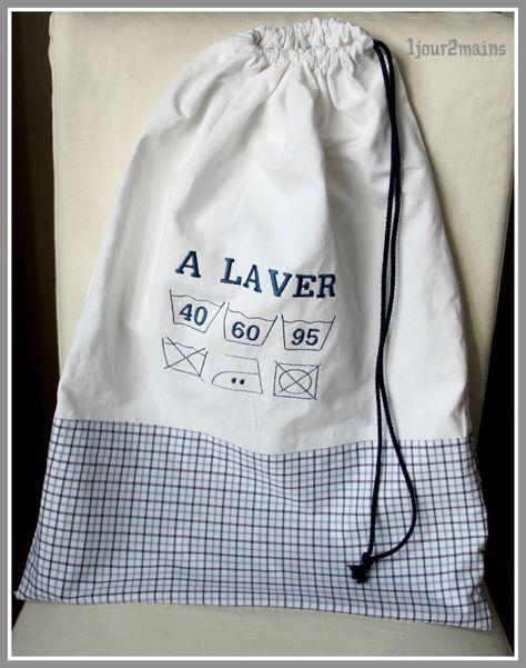 sac linge sale a laver carreaux