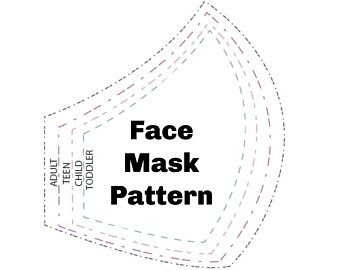 Free Face Mask Templates Svg Face Mask Face Mask Printable Etsy Easy Face Masks Face Mask Mask Template