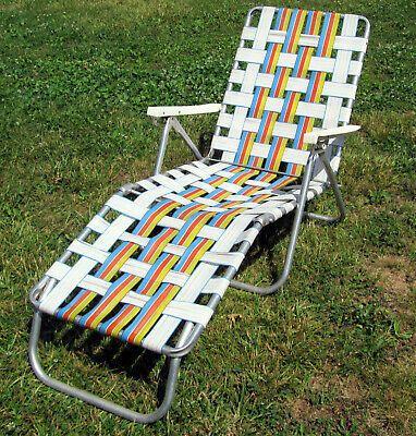 sun terrace webbed aluminum adjustable