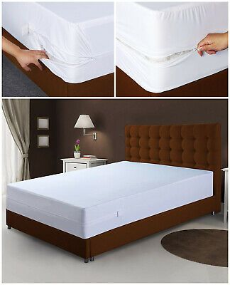 Mattress Cover Zippered Bed Bug, Queen Size Bed Bug Box Spring Cover