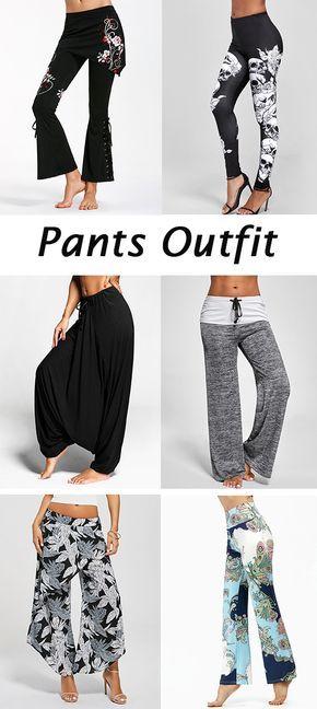 Black Boho Pants Outfit