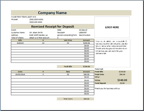 Customer Information Sheet Template Customer Information Update - deposit invoice template