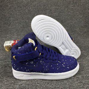 1fda4da6f1517 Nike Air Force 1 High 07 Midnight Navy White 315121 411 Mens Running Shoes