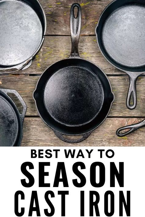 Electric Skillet Recipes, Iron Skillet Recipes, Cast Iron Recipes, Skillet Meals, Season Cast Iron Skillet, Rusty Cast Iron Skillet, Restore Cast Iron, Cast Iron Cookware, Cast Iron Pans