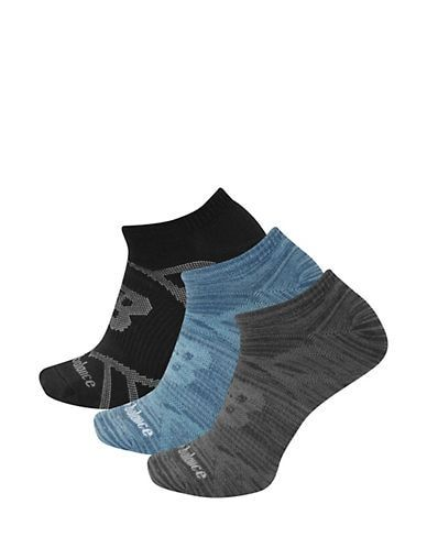 Black/Blue/Grey   No show socks