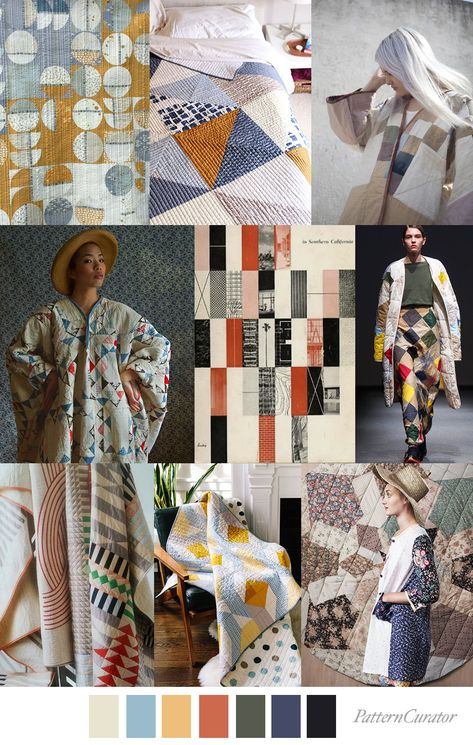 QUILT BLOCK - color, print & pattern trend inspiration for FW 2019 by Pattern Curator. Pattern Curator is a trend service for color, print and pattern inspiration.