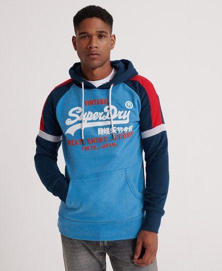 Vintage Logo Sweat Shirt Store Colourblock Hoodie In 2020 Hoodies Sweatshirts Shirt Store