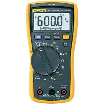Fluke 117 Electrician S Multimeter With Non Contact Voltage Detection In 2020 Multimeter Rms Electrician