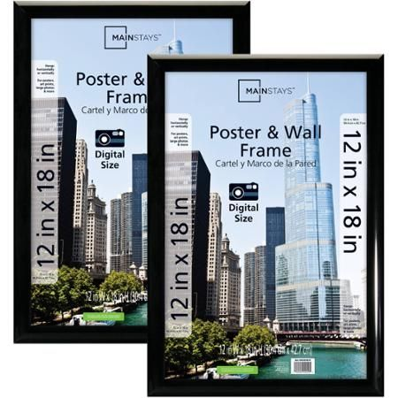Mainstays 12 X 18 Rounded Picture Frames Black Set Of 2 Walmart Com Poster Frame White Picture Frames Wall Poster Frame