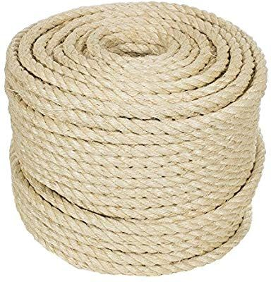 Golberg Twisted Sisal Rope Available In 1 4 5 16 3 8 1 2 3 4 And 1 Inch Diameters In Various Lengths Amazon Com Sisal Rope Sisal Twine Sisal