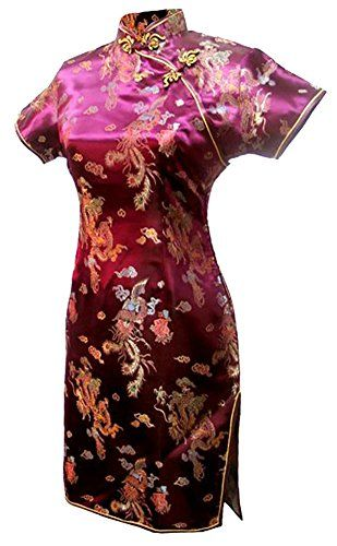 859a2c0ed 7Fairy Women's Vtg Green Ten Buttons Long Chinese Dress Cheongsam - 2 >>>  You can find out more details at th… | Cultural Wear>Chinese Female  Cheongsam ...