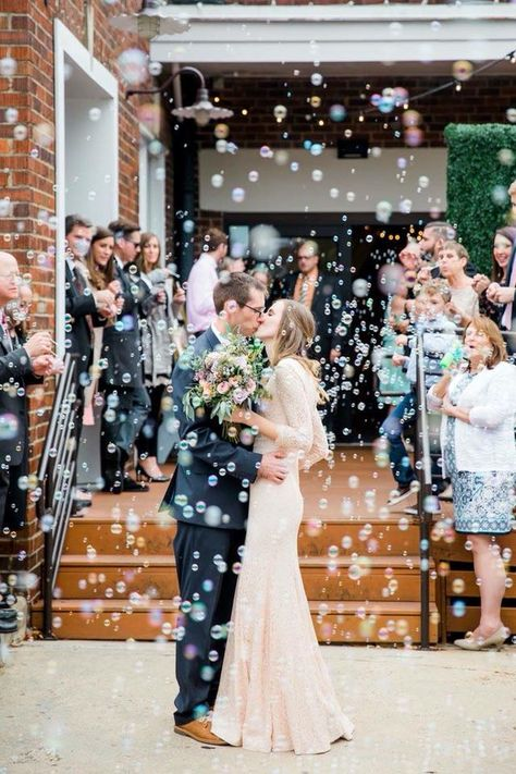 A French Toast and Mimosa Themed Wedding -- Bustld -- Planning Your Wedding Just Got Easier Wedding Ceremony Ideas, Wedding Exits, Wedding Programs, Wedding Venues, Wedding Photos, Dream Wedding, Wedding Reception, Luxury Wedding, Wedding Send Off