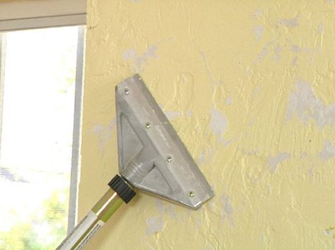 How To Remove Texture From A Wall And Get A Smooth Look Removing Textured Walls Cleaning Painted Walls Textured Walls