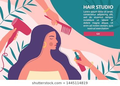 Hair And Beauty Salon Banner Flyer Voucher Hairdressers With Professional Tools Care About Long Woman S Hair Hair And Beauty Salon Hair Beauty Beauty Salon