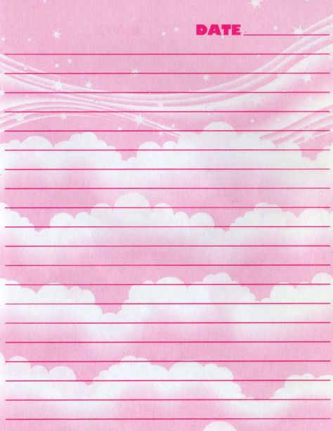 Printable Lisa Frank diary pages