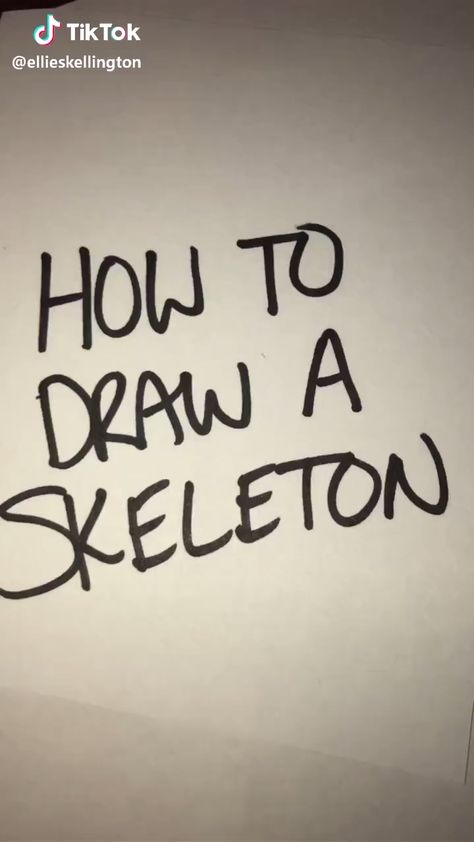 Don't know how to draw a spooky, scary skeleton? Let us show you how to get ready for Halloween!    #tiktok #skeleton #halloween #drawing #diy #art