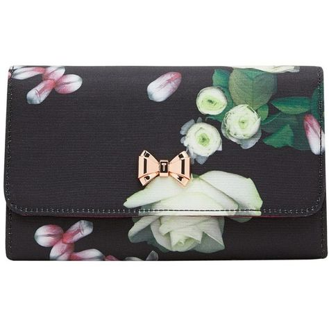 7ebfe0cadc Ted Baker Jajaa Kensington Floral Clutch Bag (5.070 RUB) ❤ liked on  Polyvore featuring bags