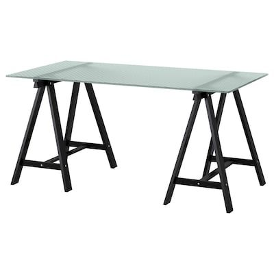 Kallax Workstation White 30 3 8x57 7 8x62 5 8 Shop Online Or In Store Ikea In 2020 Ikea Honeycomb Pattern Glass Table