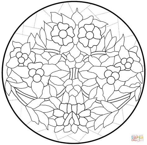 Disegno Da Colorare Di Mandala Con Fiori Categorie Mandala
