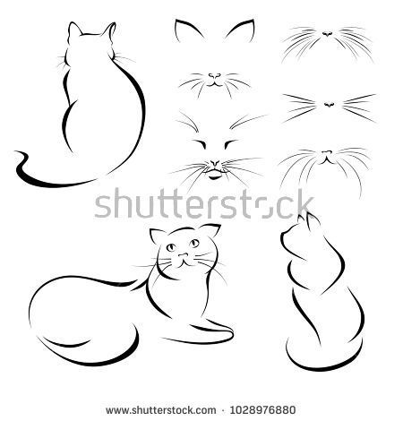 Cats Images Of Cats Lines Vector Cat Tattoo Designs Cat Tattoo Cat Art