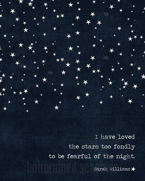 Starry Night Poster Dark Navy Blue I Have by hairbrainedschemes, $15.00