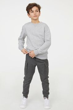 H & M Cargo Pants - Grau - Hunter school wish -