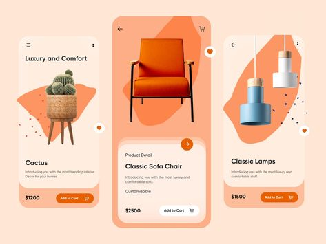 Furniture Detail Page Mobile App-UX/UI Design