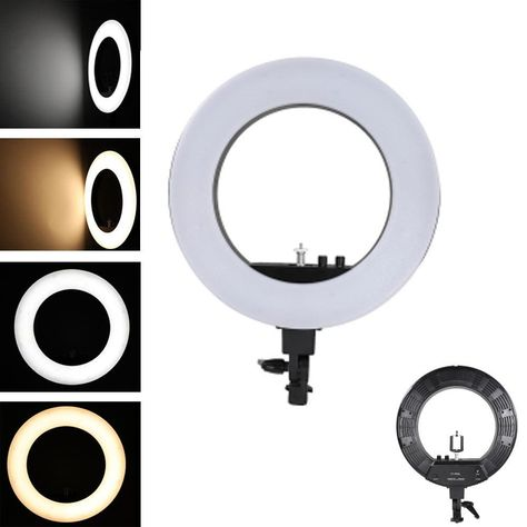 """18"""" LED Ring Circle Selfie Light With Light Stand Suitable For Phone Having problems with lighting when taking a selfie or creating a video to upload? Then this High-Tech LED Ring Circle Light will greatly improve your efforts. Our LED Light gives out a bright and pure light, is dimmable and colour temperature adjustable. The 480 SMD LED beads delivers continuous natural soft light, making the portrait more stereoscopic, attractive and realistic. Ideal for taking Selfie, TikTok or YouTube Videos"""