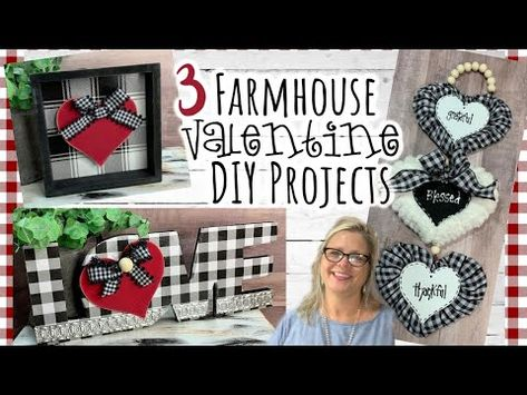 3 Farmhouse Valentine DIY Projects Dollar Tree Walmart Hobby Lobby – Famous Last Words Valentines Day Decorations, Valentine Day Crafts, Holiday Crafts, Valentine Ideas, Hobby Lobby, Hobby Room, Dollar Tree Decor, Dollar Tree Crafts, Metal Tree Wall Art