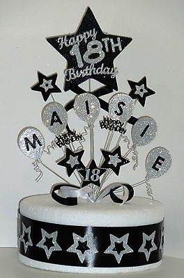Balloons Birthday Cake Topper Any Name Age 18th 21st 30th 40th 50th 60th 70th 18 Geburtstagskuchen Geburtstagskuchen Fur Jungen 25 Geburtstagskuchen