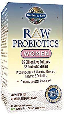 Amazon Com Garden Of Life Raw Probiotics Women Acidophilus Live Cultures Probiotic Created Vitamins Minera Probiotics Prebiotics Whole Foods Probiotics