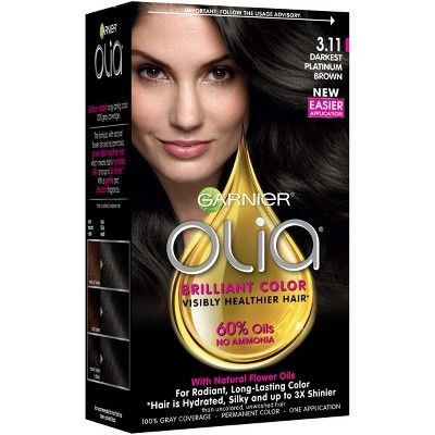 Garnier Olia Brilliant Color 3 11 Darkest Platinum Brown Hair